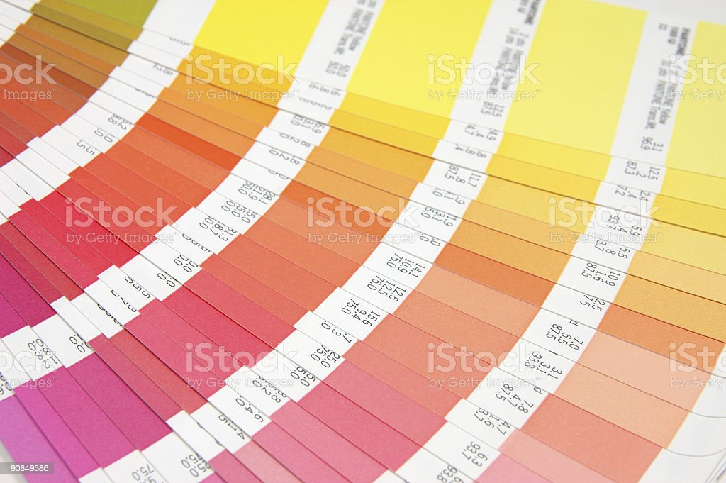 Color guide - yellow to red royalty-free stock photo