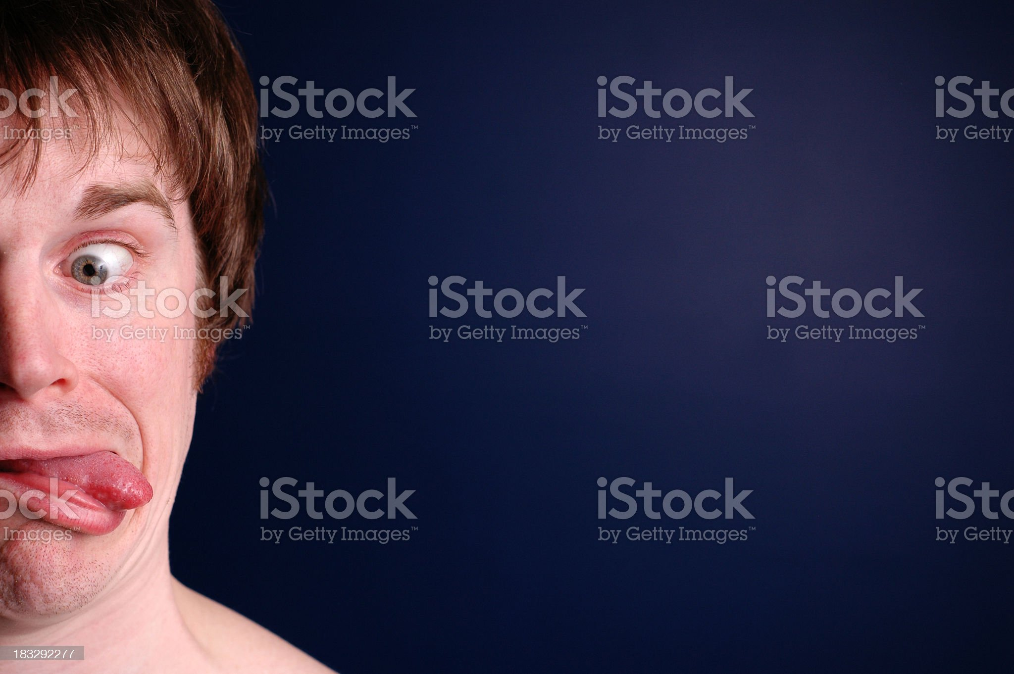 Color Image of Man Being Goofy, with Copy Space royalty-free stock photo
