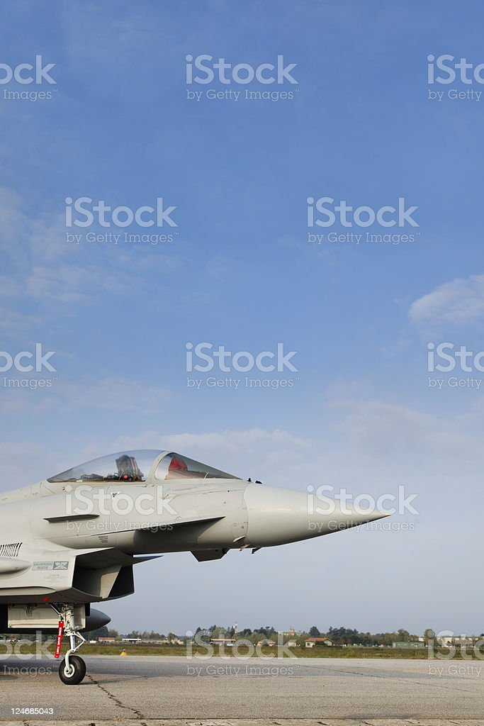 Military Airplane - Eurofighter 2000. Color Image stock photo