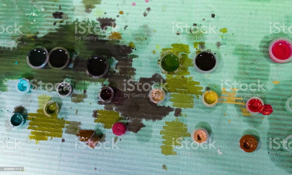 color ink tattoo stock photo