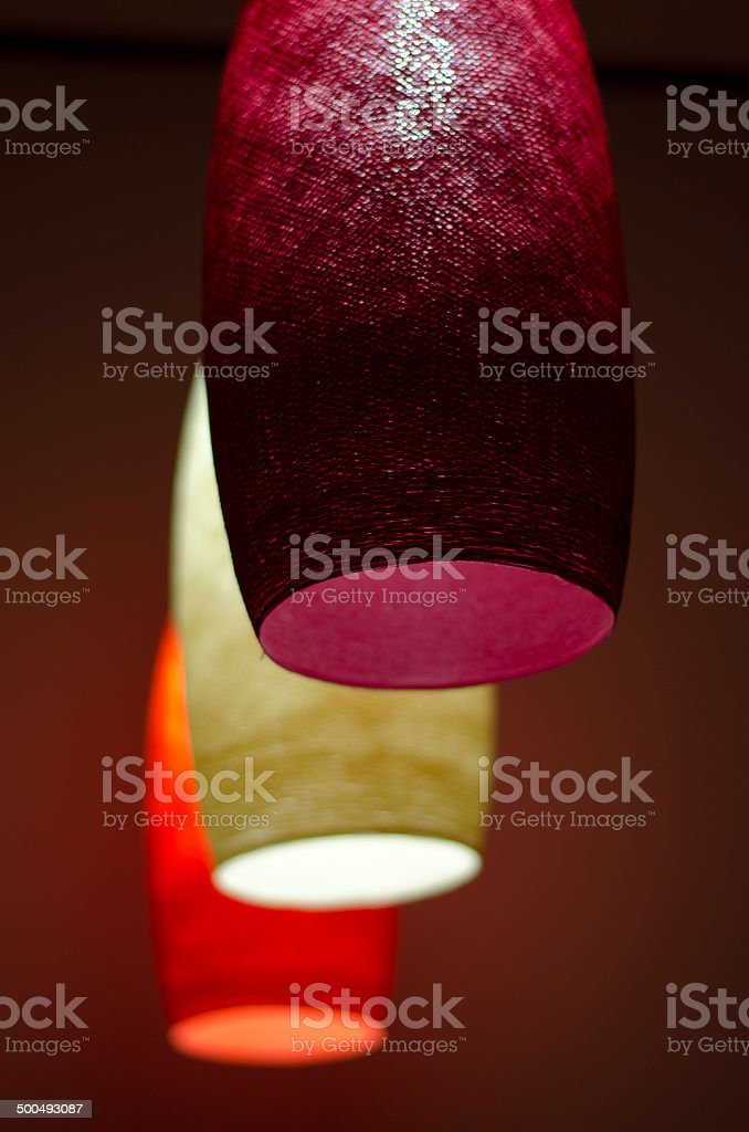 3 color lamps stock photo