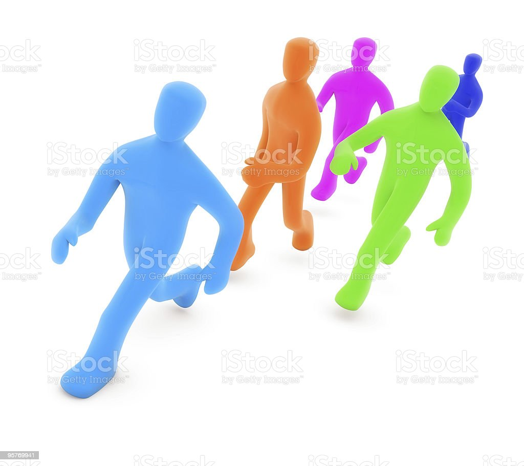 color man series royalty-free stock photo