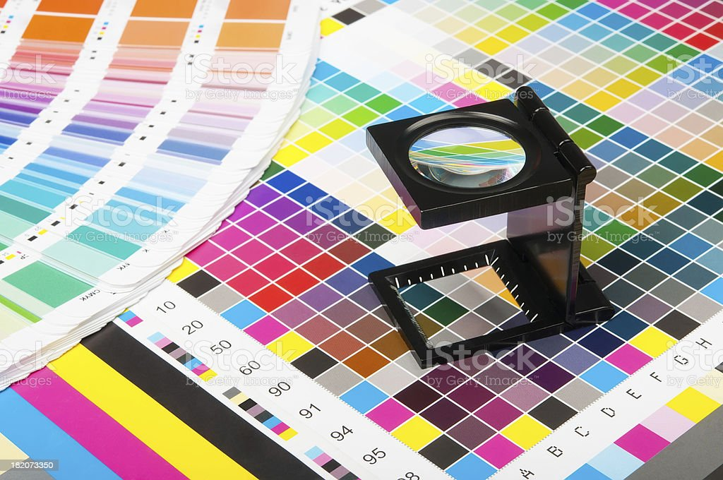 Color management in print production stock photo