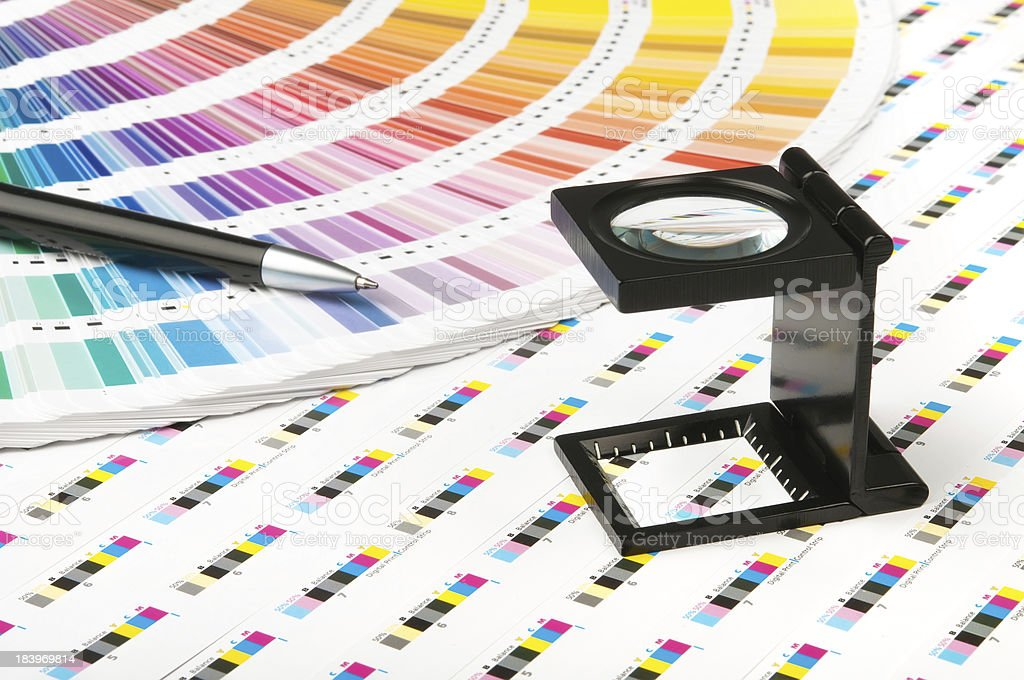 Color management in print production royalty-free stock photo