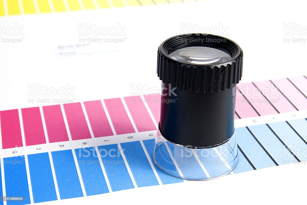 Color Management - Loupe royalty-free stock photo
