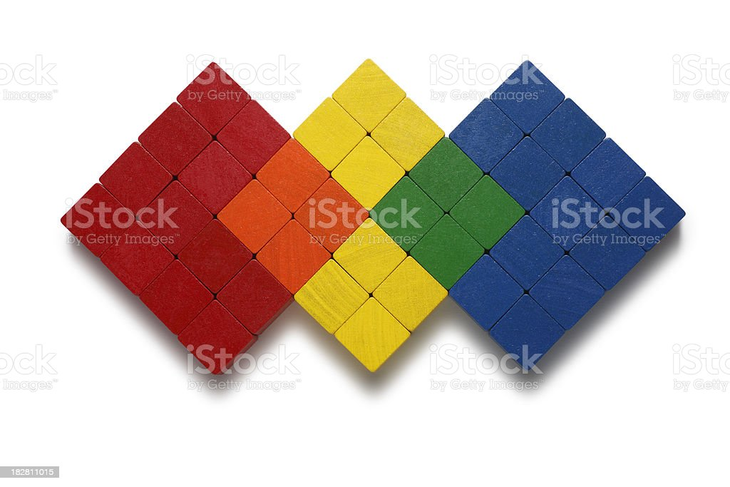 Color Mixing (Venn Diagram Concept) stock photo