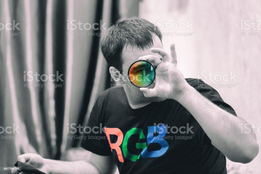 RGB Color Model Illustration stock photo
