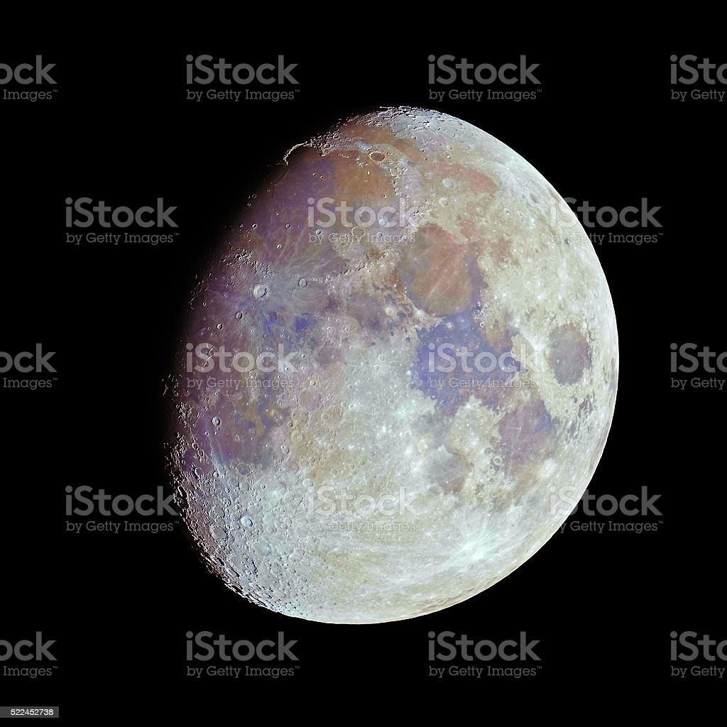 Color moon stock photo