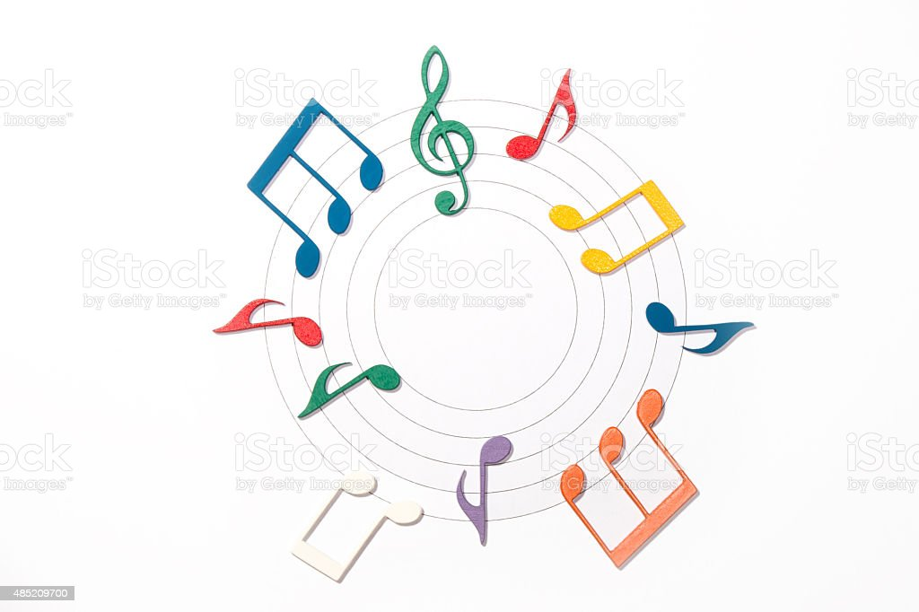 Color Musical Notes stock photo