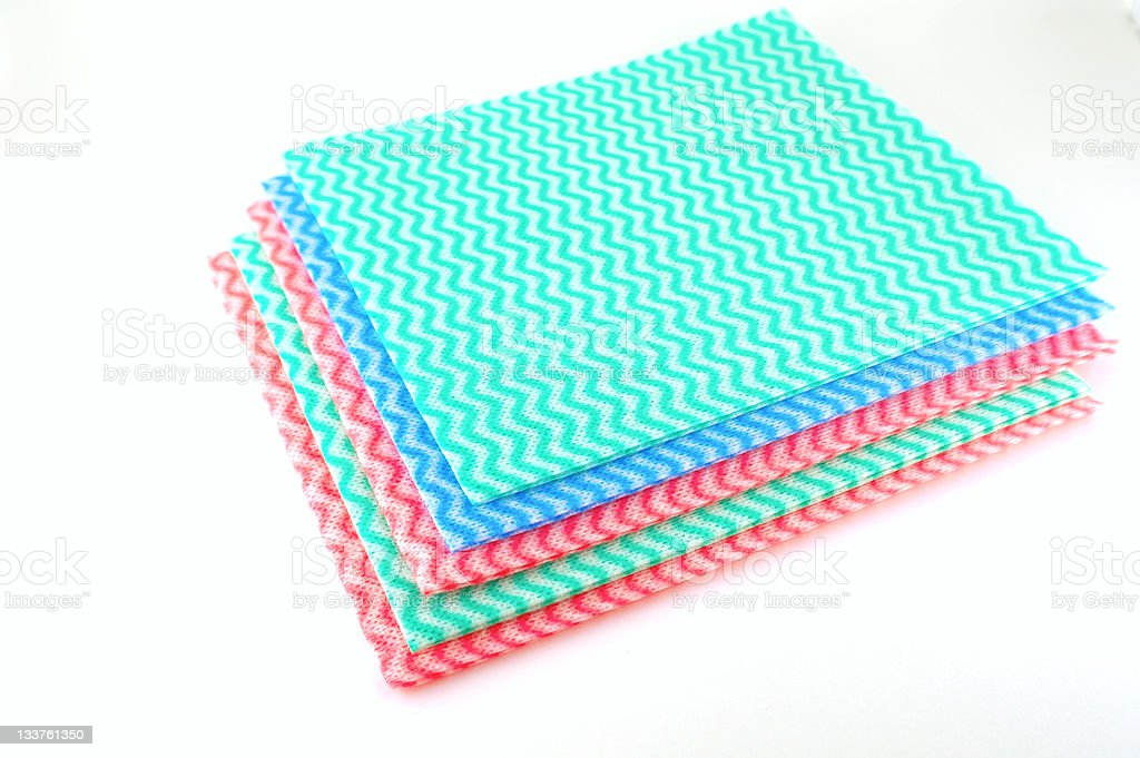 Color napkins royalty-free stock photo