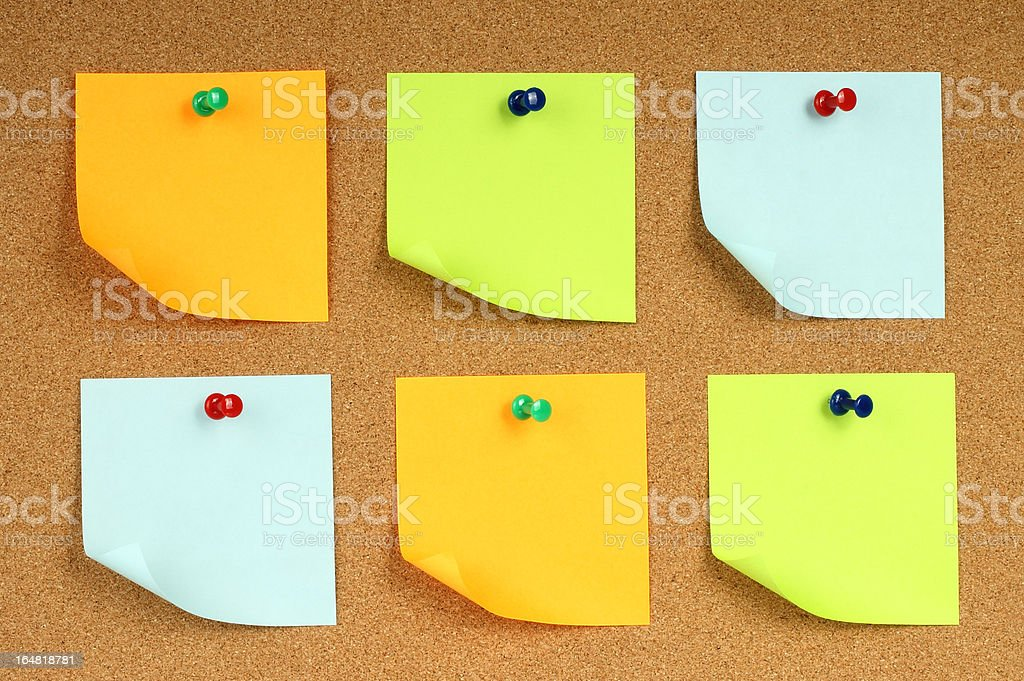 Color note papers royalty-free stock photo