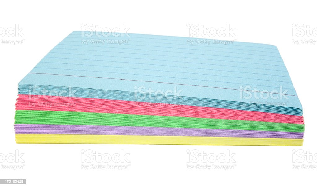 Color Notecards royalty-free stock photo