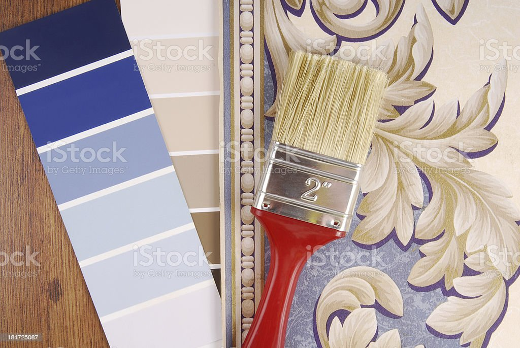color paint and wallpaper choice royalty-free stock photo