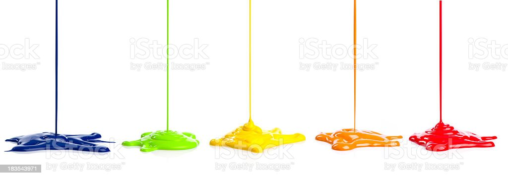 color paint dripping stock photo
