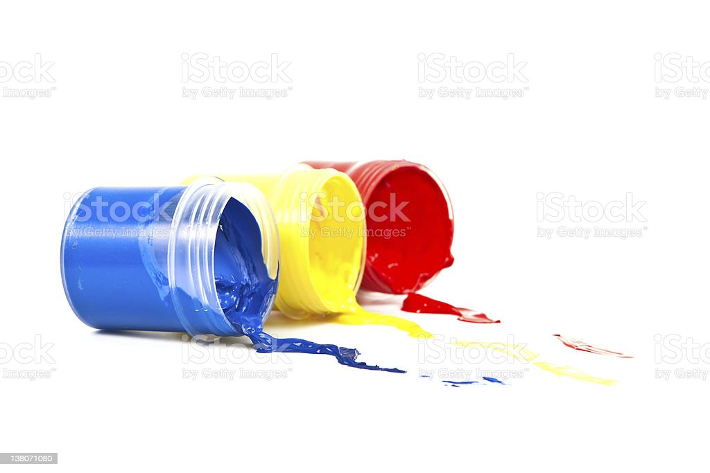 Color paint on a white background. royalty-free stock photo
