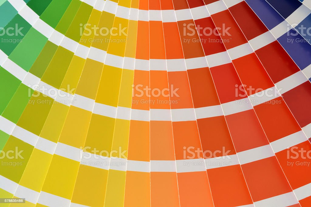 Color palette catalog stock photo