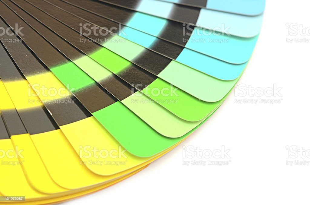 Color palette guide for printing industry isolated stock photo