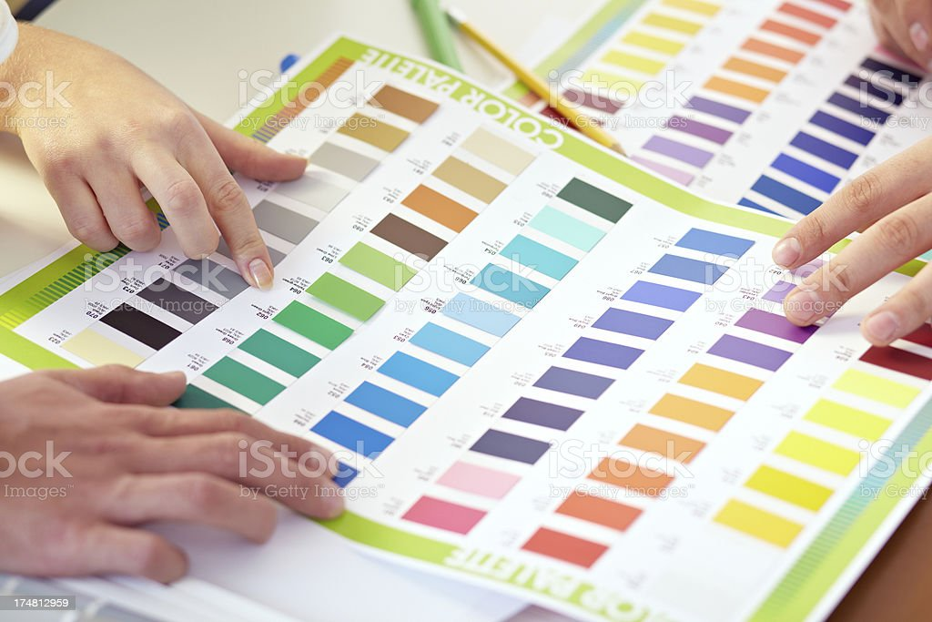 Color palette guide royalty-free stock photo