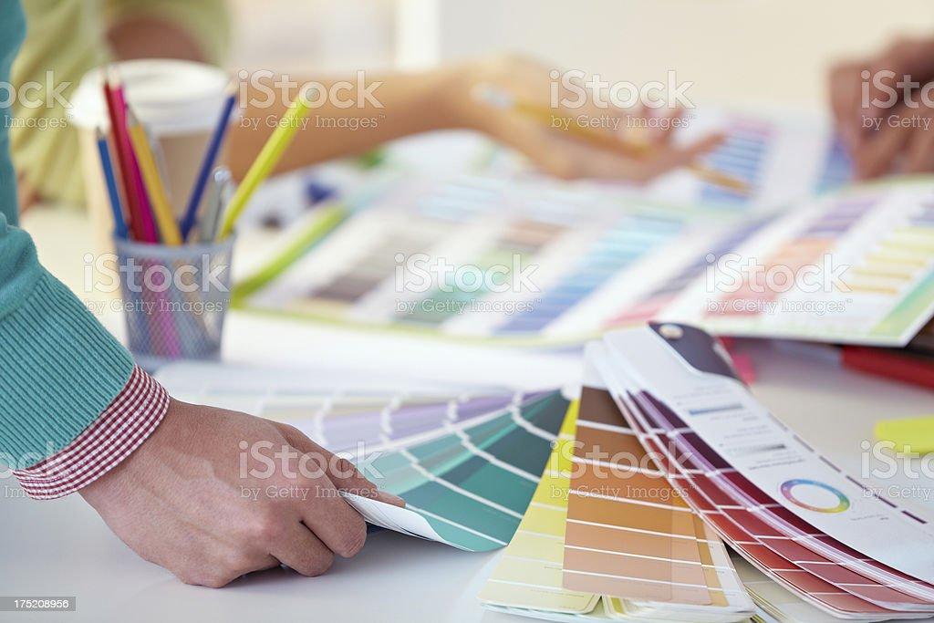 Color palette guide stock photo