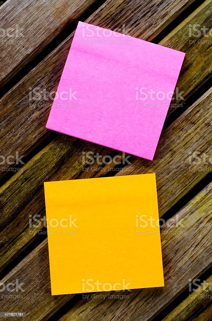 Color paper note royalty-free stock photo
