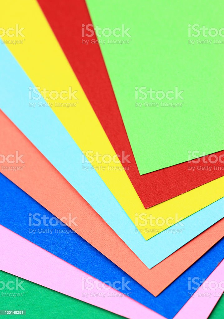 Color Paper royalty-free stock photo