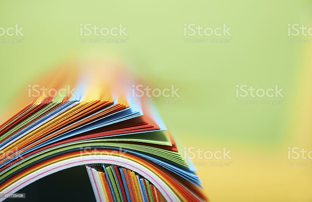 Color paper. stock photo