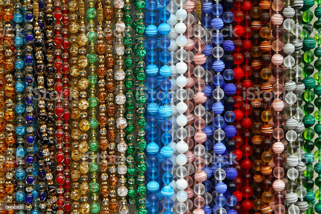 Color pearls stock photo