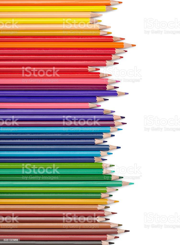 color pencil draw art school educaation stock photo