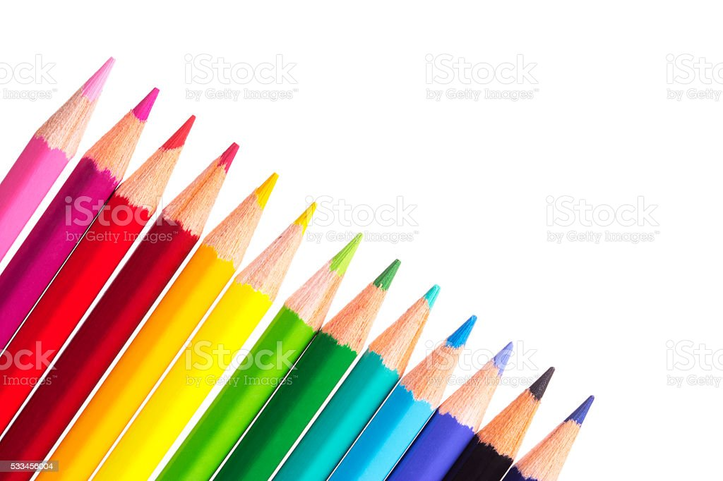 Color Pencil Isolated On White Background stock photo