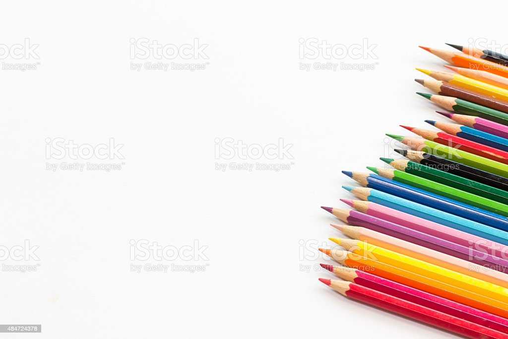 Color pencil with copy space stock photo
