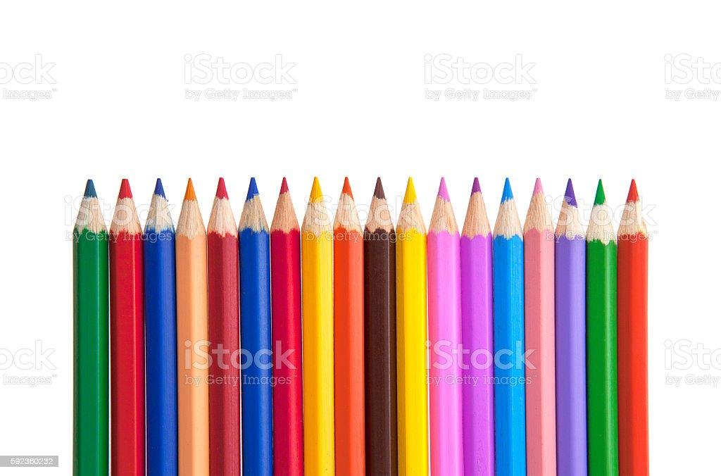 Color pencils close-up stock photo