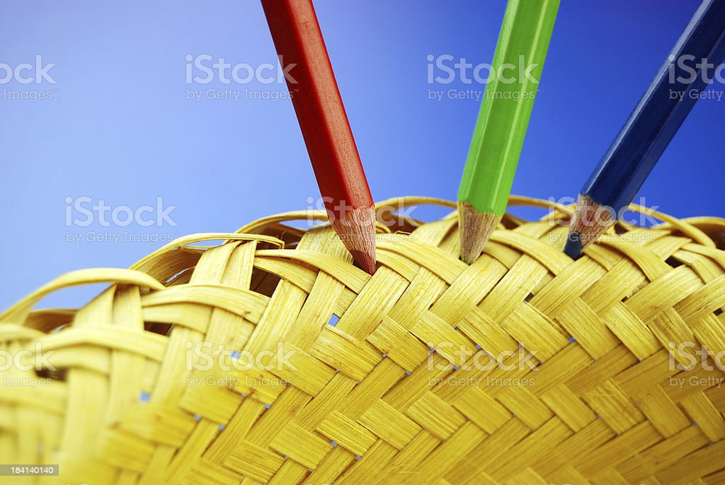 Color Pencils - conceptual (Spot and grab your place) stock photo