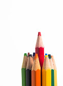 color pencils isolated on white background.
