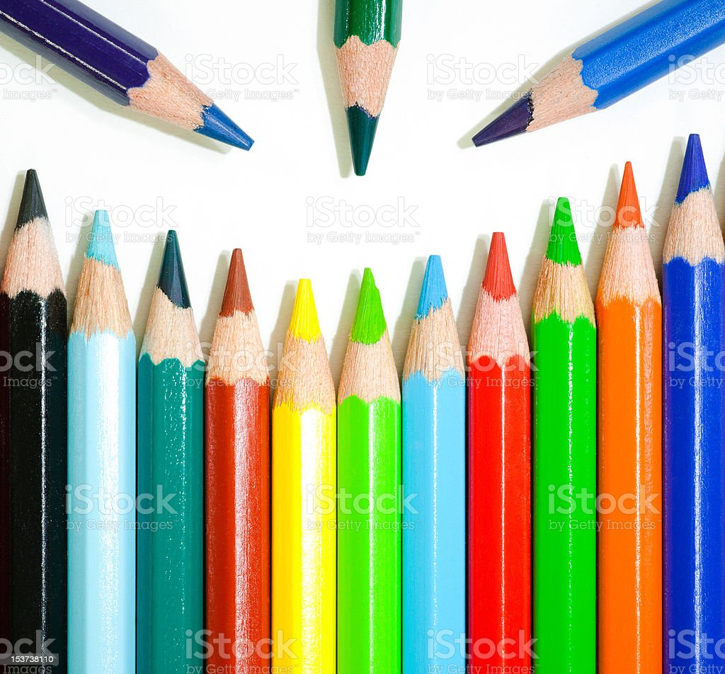 Color pencils. royalty-free stock photo