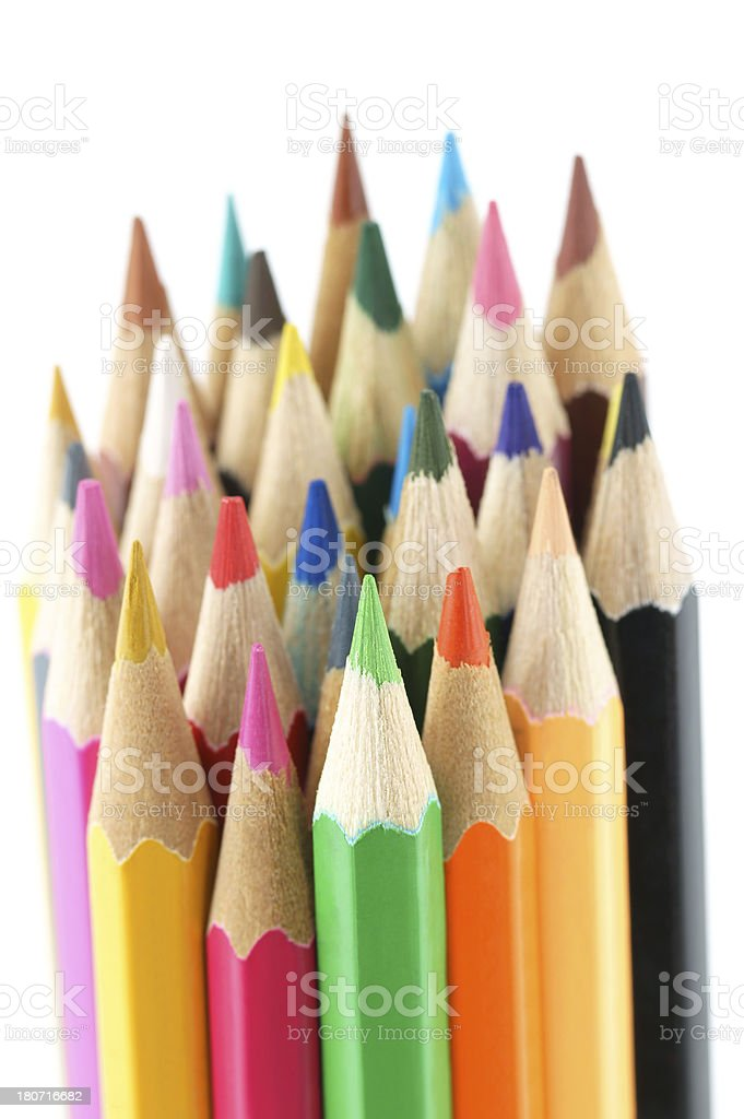 Color Pencils Set royalty-free stock photo