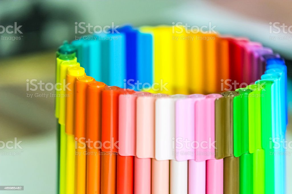 Color Pens stock photo
