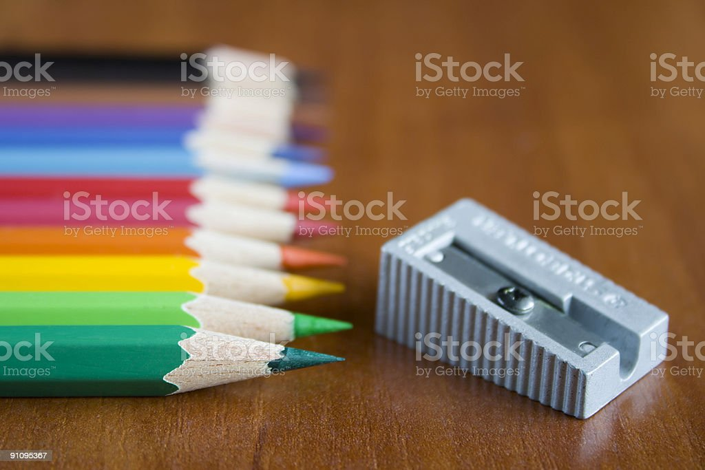 Color pensils royalty-free stock photo