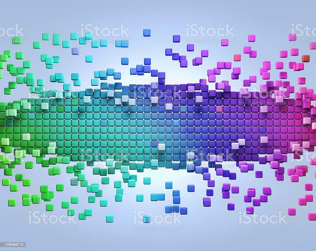 Color Pixels stock photo