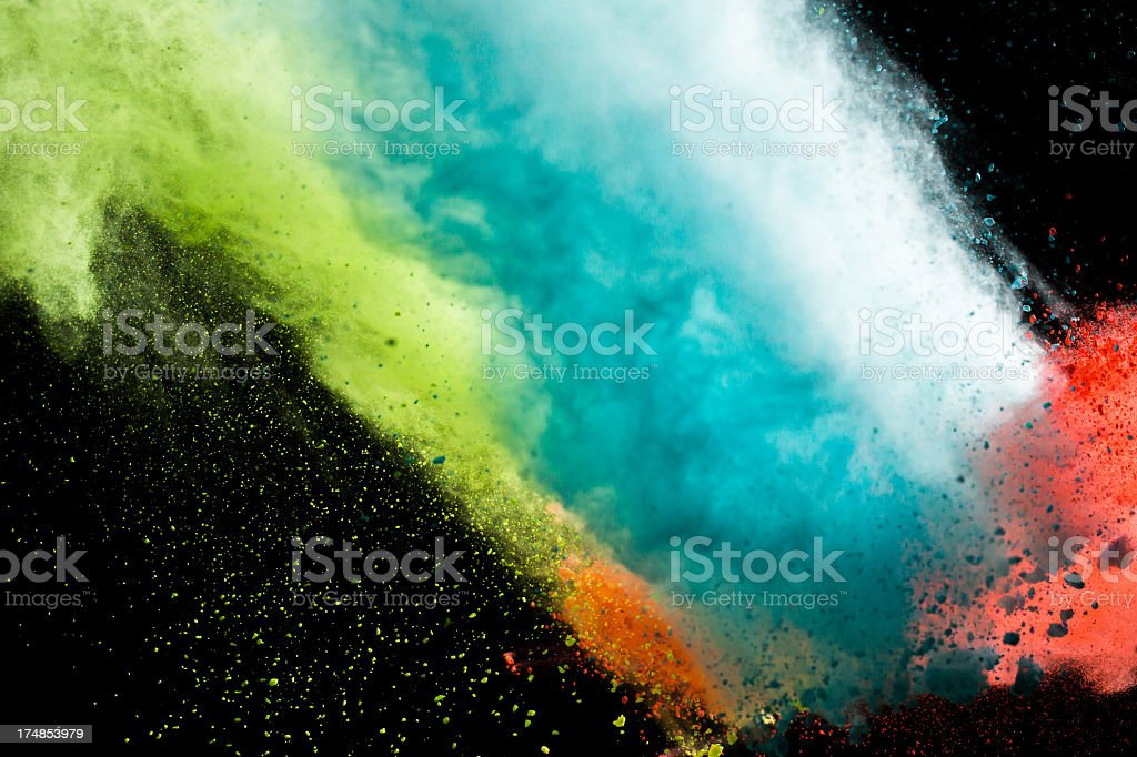 Color Powder for Holi Festival royalty-free stock photo