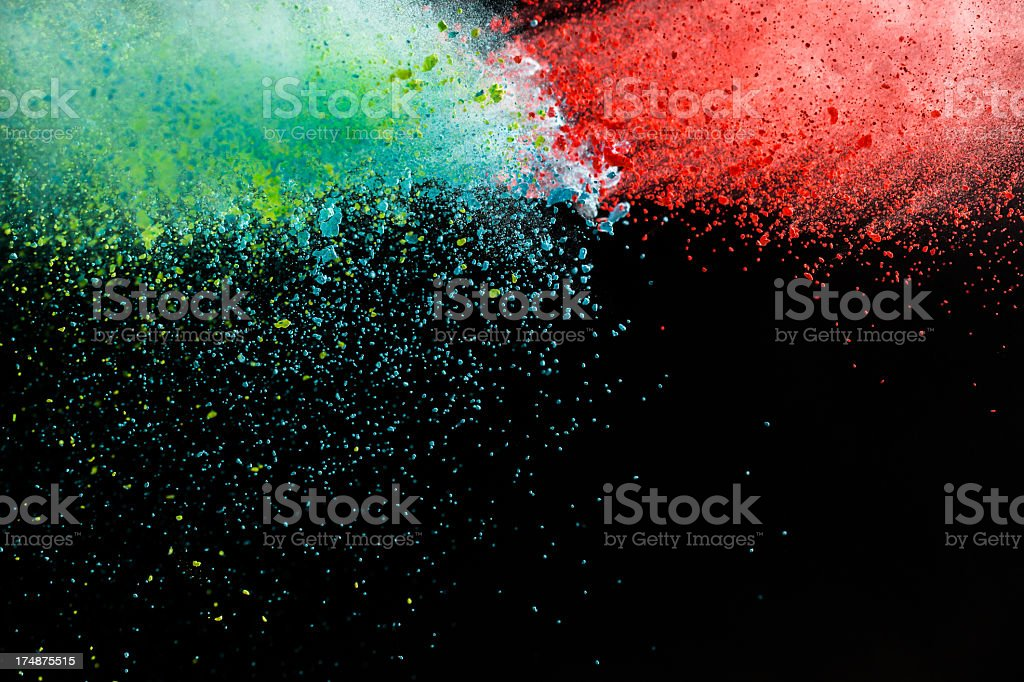 Color Powder for Holi Festival (Red and Green) stock photo
