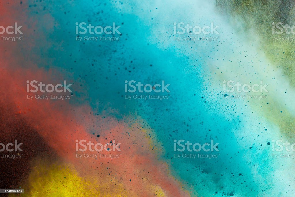 Color Powder - Holi Festival stock photo