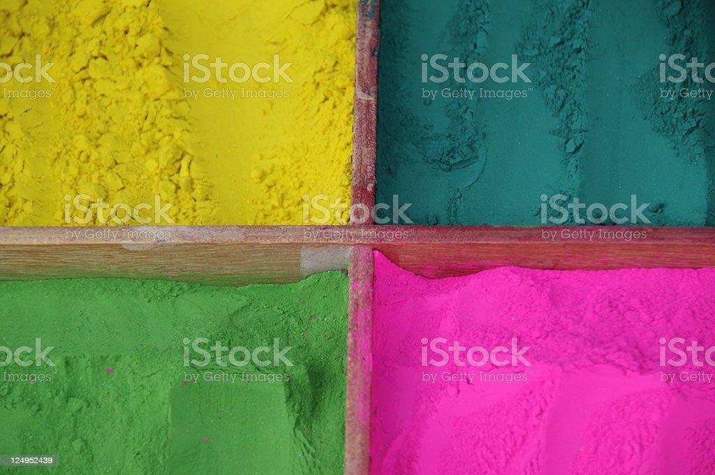 Color powder stock photo