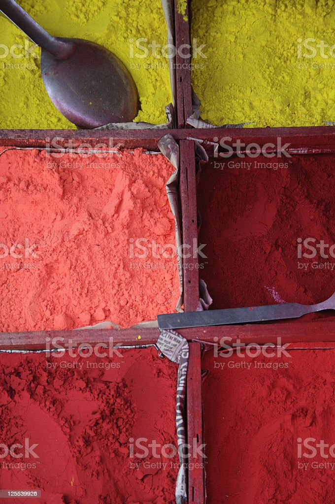 Color powder stock photo