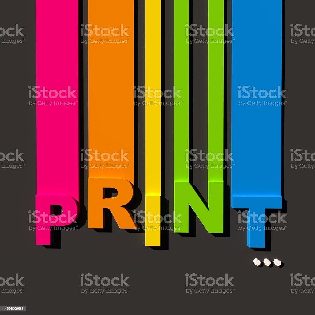 Color print stock photo