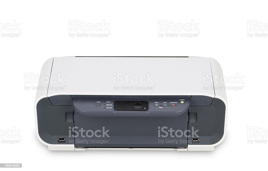 Color Printer isolated stock photo