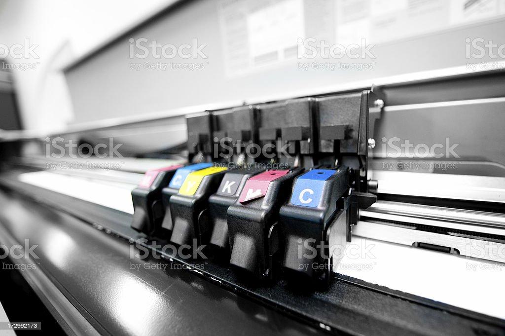 Color Printer Printing royalty-free stock photo