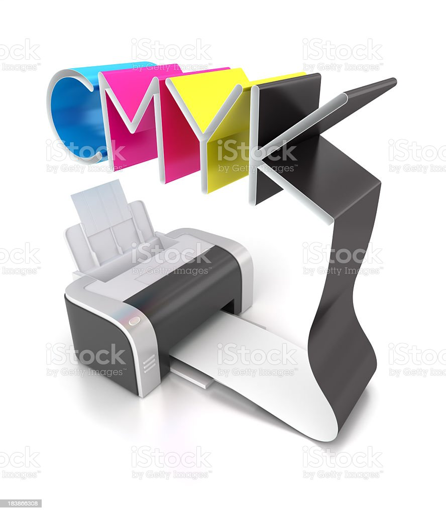 CMYK color printing royalty-free stock photo