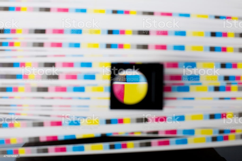 Color printing - print quality royalty-free stock photo