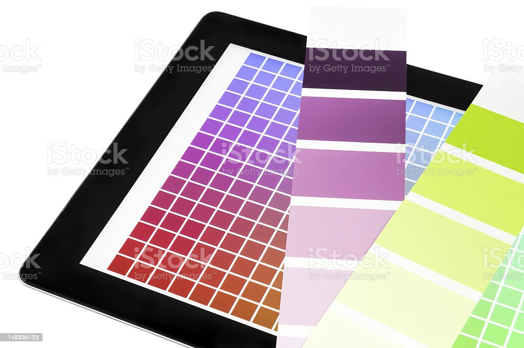 Color proof mobile device royalty-free stock photo