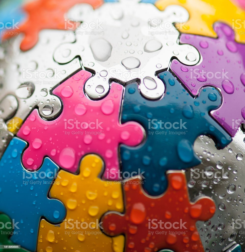 color puzzle royalty-free stock photo